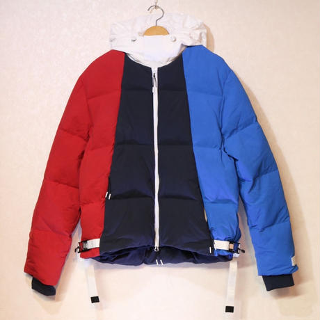 Kith Colorblocked Puffer Jacket Blue/Multi L Size