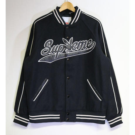 SUPREME x Playboy FW17 Wool Varsity Jacket Black L size