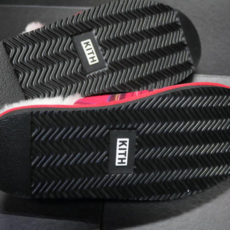KITH FLANNEL SHERPA SLIPPER Red Multi Size 43 (28cm)