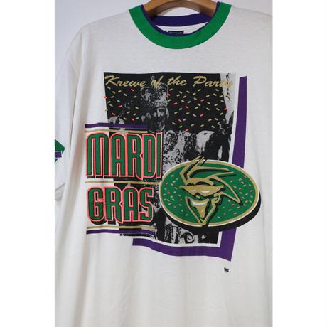 【古着】TEES MARDI GRAS S/S TEE White Size XL