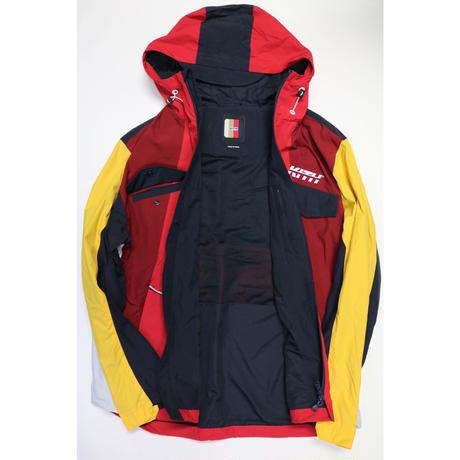 KITH Colorblocked Windbreaker W Hood Red Multi Size L