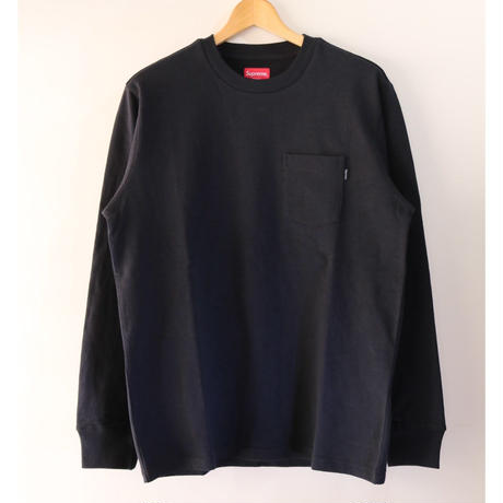 Supreme FW18KN50 M Main L/S Pocket Tee Black M size