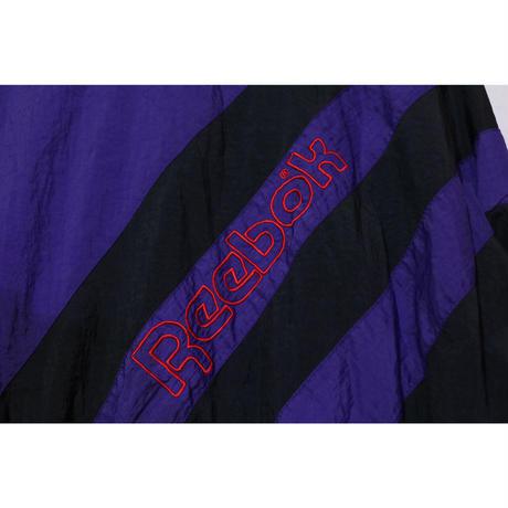 【古着】REEBOK ZIPUP NYLON JACKET Purple/Black/Red Size L