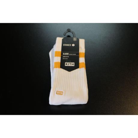 KITH Summer 18 x STANCE Socks Crew Height Gold L (US 9-12 , JP 27-30cm)