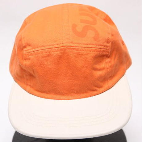 supreme 2017SS TONE TWILL TOP PANEL CAMP CAP ORANGE