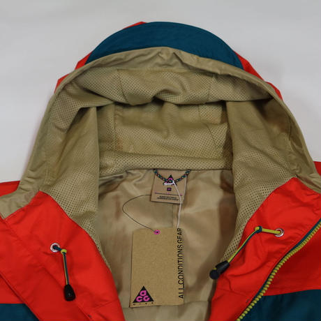 NIKE ACG Nylon Anorak Jacket Red M