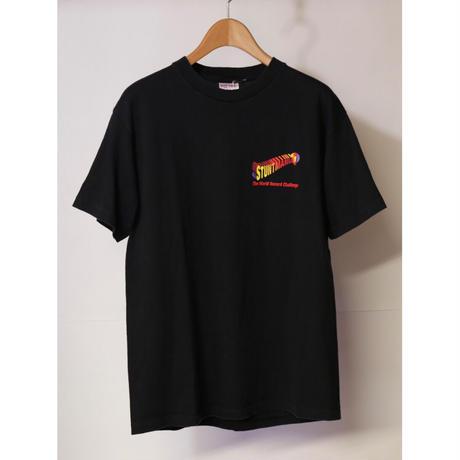 【古着】STUNTMANIA GRAPHIC S/S Tee Black Size L