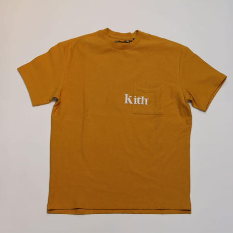 KITH serif quinn pocket tee golden orange S size