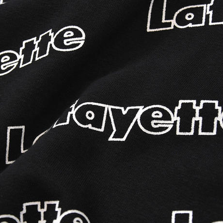 LFYT OUTLINE LOGO ALLOVER HOODED SWEATSHIRT BLACK