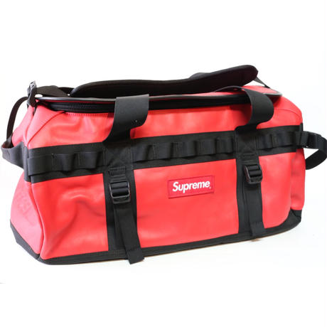 SUPREME x THE NORTH FACE LEATHER BOSTON BAG RED