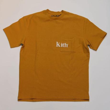 KITH serif quinn pocket tee golden orange S size