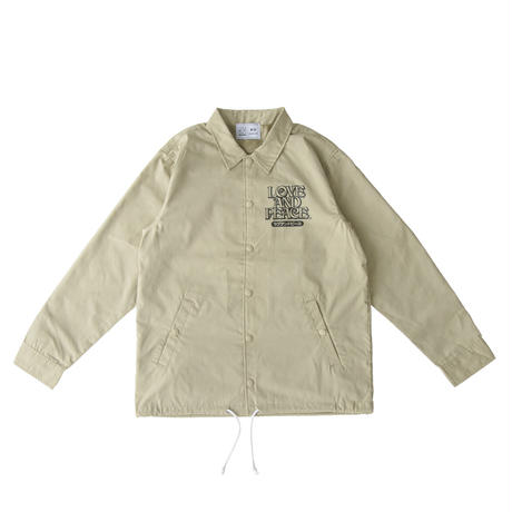 LOVE AND PEACE COACHES JACKET (BEIGE)