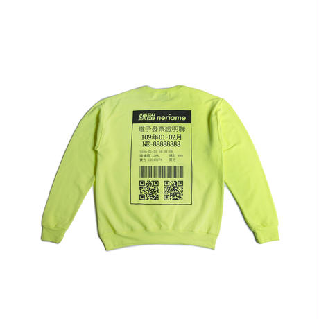168 CREWNECK SWEATSHIRT (NEON YELLOW)