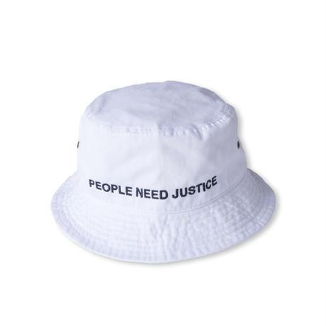 P.N.J. BUCKET HAT (WHITE)