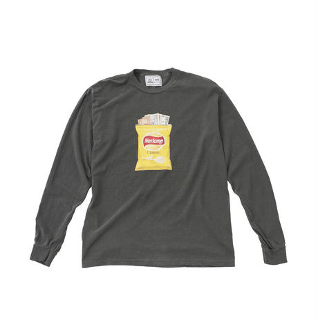 SNACKS L/S WASHED TEE (BLACK)