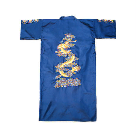CLASSIC CHINESE SATIN GOWN (NAVY)