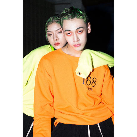 168 CREWNECK SWEATSHIRT (NEON ORANGE)