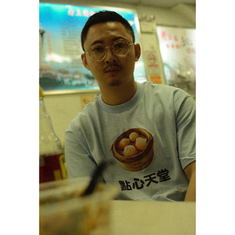 "DIM SUM ""点心"" PARADISE TEE (LIGHT BLUE)"