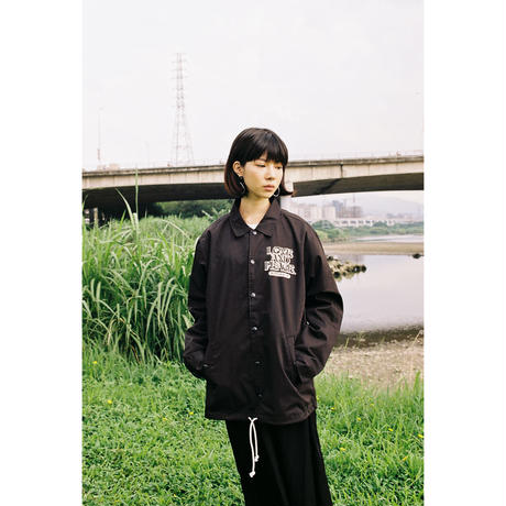 LOVE AND PEACE COACHES JACKET (BLACK)