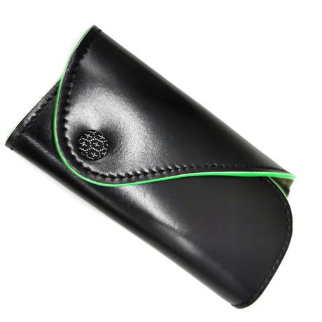 Key Case / キ-ケ-ス  Black/Mint Leaf (Green)  ブラック/ミントリーフ(グリーン)   KO07-BK-AS Mint Leaf