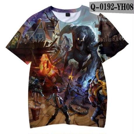 フォートナイト fortnite 子供服  3Dデザイン Tシャツ ユニセックス カジュアル半袖Tシャツ トップス  バトルロワイヤル  8
