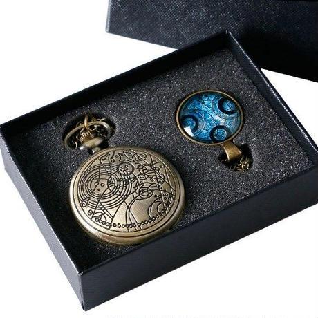 アンティーク レトロ ブランド 懐中時計 ポケットウォッチ ガラスドームペンダント ギフトボックス