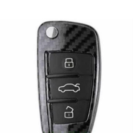 アウディ キーケース Audi Q3 A1 R8 A3 Q7 カーボンファイバー RS SLINE リモートケース h00294