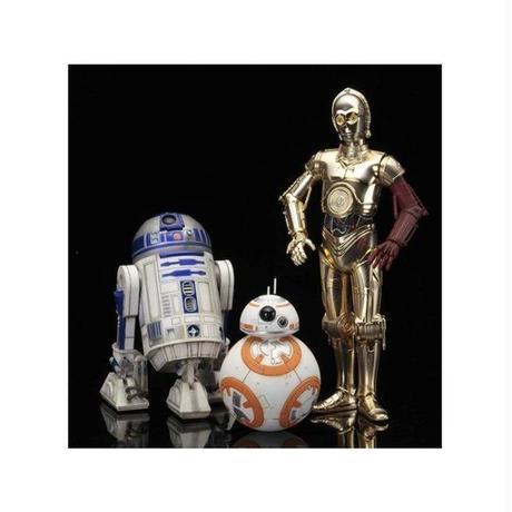 スターウォーズ コトブキヤ KOTOBUKIYA Star Wars ArtFX+ C-3PO & R2-D2 With BB-8 Statue Pack (The Force Awakens)