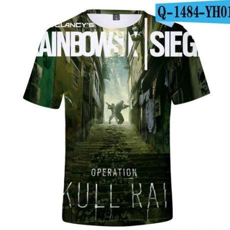 レインボーシックス シージ  ゲーミング 3Dプリント Tシャツ  半袖   Tom Clancy's Rainbow Six Siege R6S シージグッズ  1484