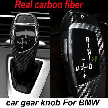 BMW ギアカバー E60 E90 F90 F30 F20 X1 3 GT リアルカーボンファイバー 左ハンドル用 h00247