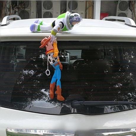 大人気 トイストーリー Toy Story ウッディー& バズ Woody&Buzz フィギュア 人形 ステッカー 車 カー アクセサリー ぬいぐるみ 30cm