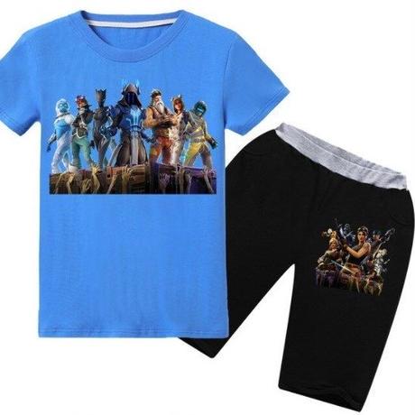 フォートナイト fortnite 子供服   Tシャツ+パンツのセット  ユニセックス カジュアル  パジャマ  6