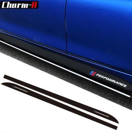 BMW ステッカー サイドスカート Mパフォーマンス ストライプ f30 f31 x5 f15 f85 e60 e61 f22 f23 f10 f11 f01 f01 f02 h00076