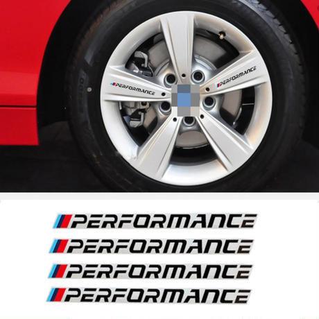 BMW ステッカー 4個入 タイヤ リム E30 E34 E36 E39 E46 E60 E70 E71 E85 E87 E90 F10 F20 F30 1-X h00233
