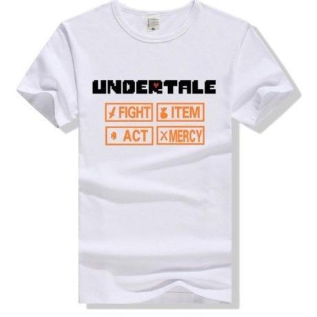 ゲームグッズ アンダーテール Undertale   ロゴTシャツ  ユニセックス ホワイト