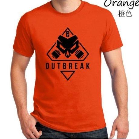 レインボーシックス シージ  ゲーム Outbreak ロゴ Tシャツ Tom Clancy's Rainbow Six Siege ユニセックス R6S シージグッズ 7
