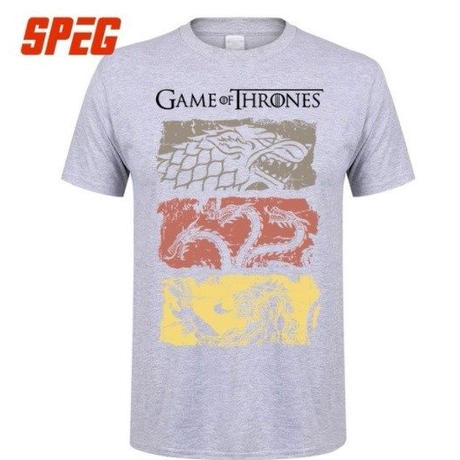 ゲーム・オブ・スローンズ Game of Thrones  Tシャツ②  グレー
