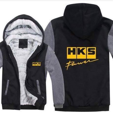 高品質  HKS エッチケーエス   あったかい フリースパーカー ジップアップ  衣装 コスチューム 小道具 海外限定 12