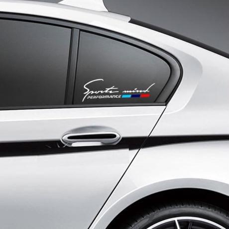 BMW 2個入 ステッカー Mパワー リアガラス 窓 E30 E34 E36 E39 E46 E60 E87 E90 F10 F20 F30 E80 E70 h00228