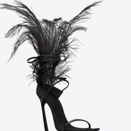【Jawakye】黒の羽 ヒール パンプス ダンスシューズセレブ ファッション  パーティ イベントにも