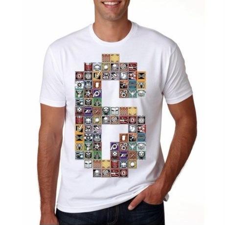 レインボーシックス シージ   カラフルロゴ   Tシャツ Tom Clancy's Rainbow Six Siege ユニセックス R6S シージグッズ  ホワイト