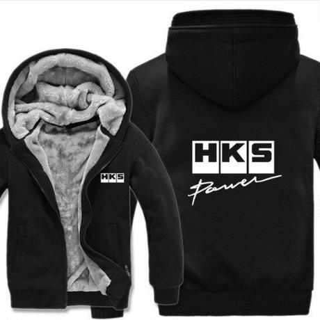 高品質  HKS エッチケーエス   あったかい フリースパーカー ジップアップ  衣装 コスチューム 小道具 海外限定 5