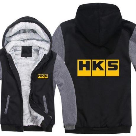 高品質  HKS エッチケーエス   あったかい フリースパーカー ジップアップ  衣装 コスチューム 小道具 海外限定 9