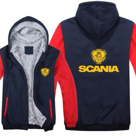 高品質  スカニア SCANIA   あったかい フリースパーカー ジップアップ  衣装 コスチューム 小道具 海外限定 13