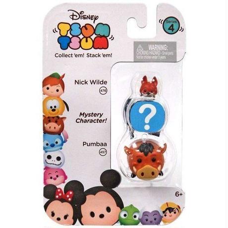 ディズニー Disney Tsum Tsum ジャックスパシフィック Jakks Pacific フィギュア おもちゃ Series 4 Nick Wilde & Pumbaa 1-Inch