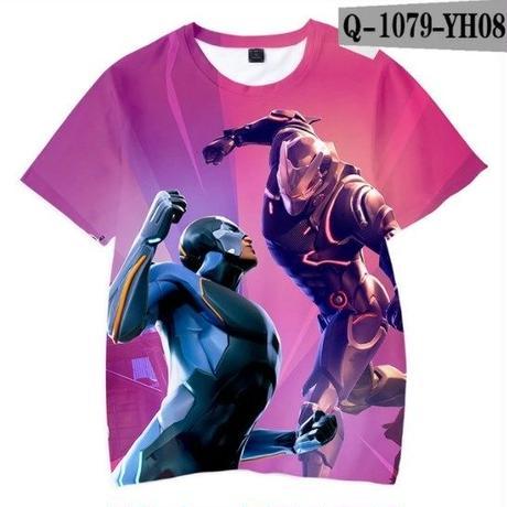 フォートナイト fortnite 子供服  3Dデザイン Tシャツ ユニセックス カジュアル半袖Tシャツ トップス  バトルロワイヤル  11