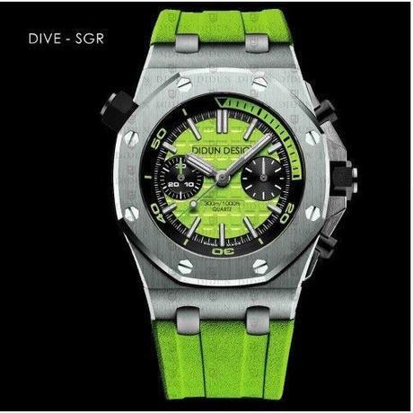 new styles 4abf1 6967f DIDUN メンズ クォーツ腕時計 高級 クロノグラフ ダイバー 2色 ...