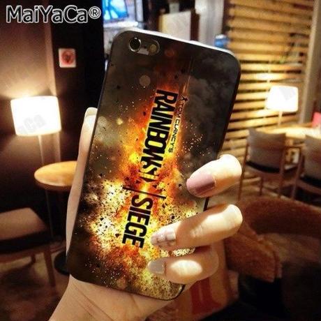 レインボーシックス シージTPU シリコン Iphone ケース アイフォンケース  Tom Clancy's Rainbow Six Siege R6S シージグッズ