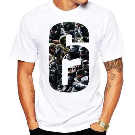 レインボーシックス シージ  ロゴデザイン  Tシャツ  半袖   Tom Clancy's Rainbow Six Siege R6S シージグッズ 2