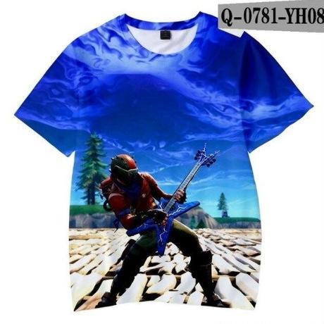 フォートナイト fortnite 子供服  3Dデザイン Tシャツ ユニセックス カジュアル半袖Tシャツ トップス  バトルロワイヤル  9